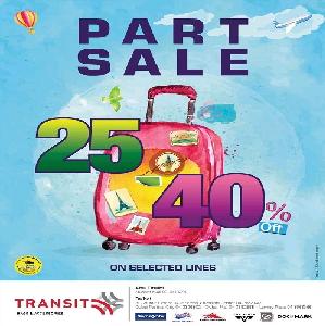 تخفيضات من 25 إلى 40% على كل ملحقات السفر والرحلات من Transit