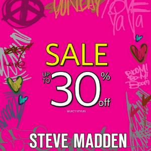 تخفيضات إلى حدود 30% من Steve Madden حتى 24 مايو 2016
