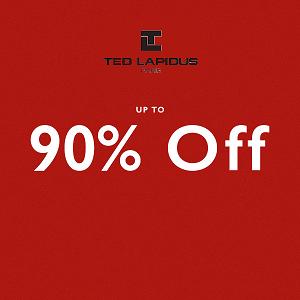 تخفيضات إلى حدود 90% على ملابس الرجال من Ted Lapidus حتى 31 مايو 2016