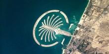 """""""ناسا"""" تلتقط صورة لجزيرة النخلة في دبي"""