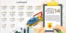 رسوم خدمات شرطة دبي  الجديدة