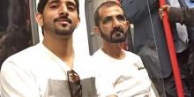 بالفيديو الشيخ محمد بن راشد في مترو لندن مع نجله
