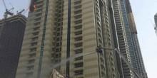قوات الدفاع المدني تسيطر على حريق برج سلافة