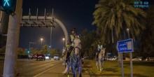 شرطة الخيالة تعود وأولى جولاتها في شوارع أبوظبي