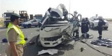 حادث تصادم  في دبي يؤدي إلى وفاة 7 أشخاص وإصابة 13 آخرين