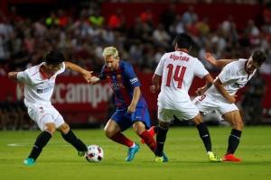 ميسي برشلونة وإشبيلية ذهاب السوبر الإسباني 2016