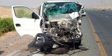 5 إصابات في حادث تدهور حافلة على جسر حصة