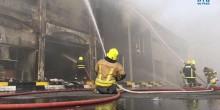 الدفاع المدني في أبوظبي يسيطر على حريق جمعية بني ياس