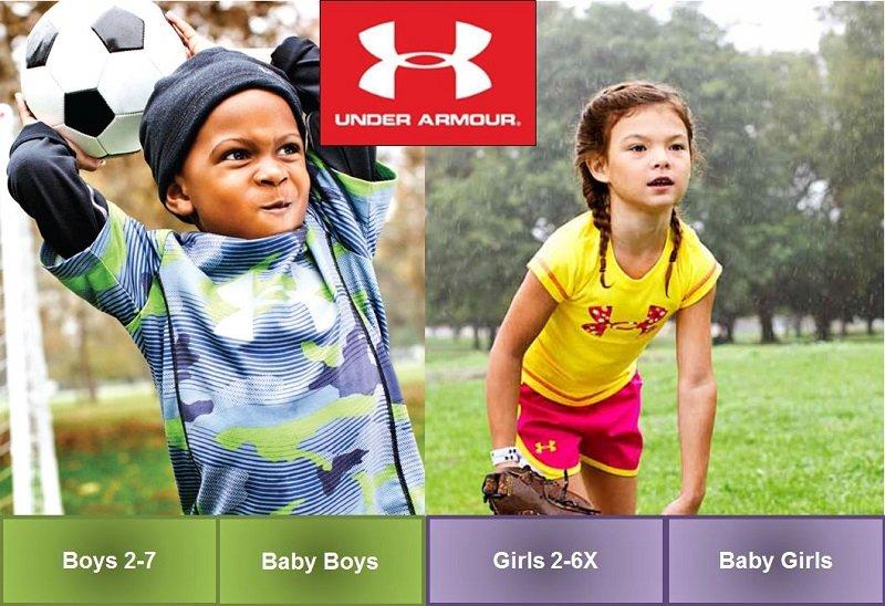 تخفيضات 25% – 60%  من Under Armour على ملابس الأطفال