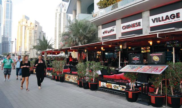 General view of Dubai Marina. March 28, 2013. Photo by Xavier Wilson