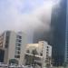 اندلاع حريق في بناية مجاورة لمبنى المسافرين وسط أبوظبي