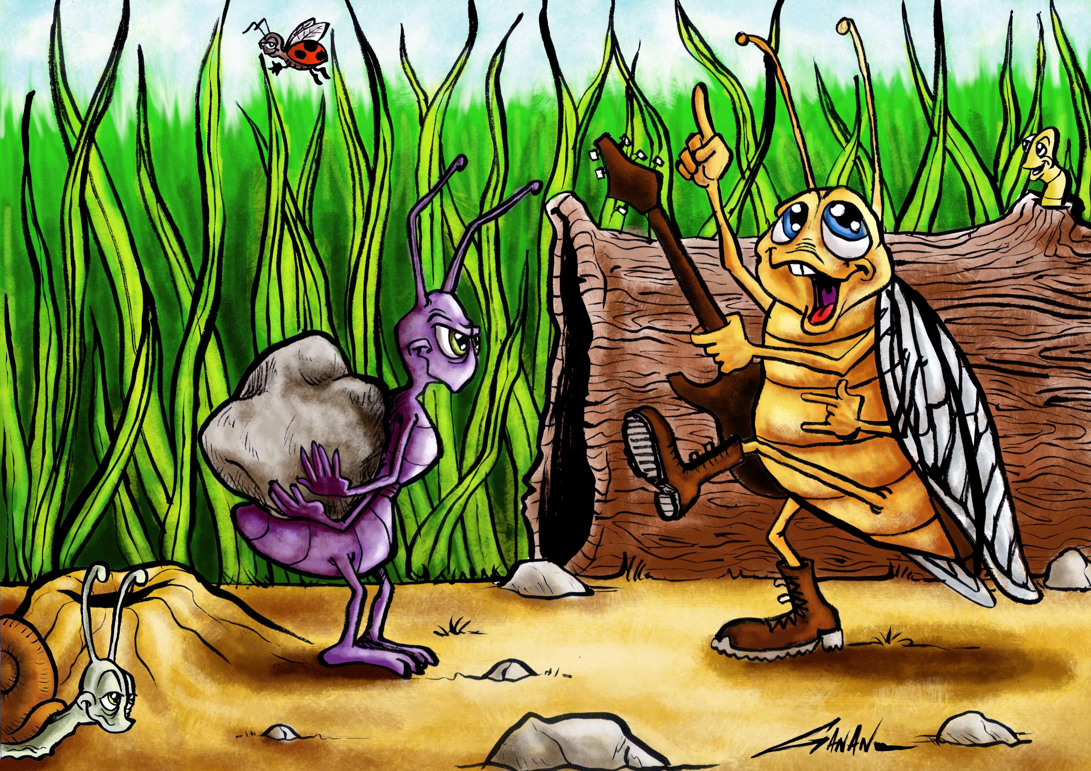 مسرحية النملة والصرصور