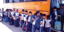 مخالفة الحافلات المدرسية التي تتأخر عن زمن الرحلة