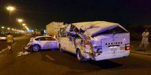 20 مصابا في حادثي تصادم بين 8 سيارات