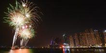 بالفيديو | شاهد أفضل عروض الألعاب النارية خلال عيد الأضحى في دبي