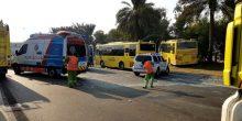 إصابة 47 طالبًا إثر حادث مروري بين حافلات جد صباح اليوم
