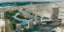 بالصور: دخول المياه إلى قناة دبي المائية