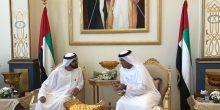 محمد بن راشد يحضر مأدبة غداء أقامها سعود القاسمي