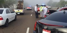 بالصور | بسبب الضباب حادث اصطدام بين 14 مركبة دون تسجيل إصابات بشرية