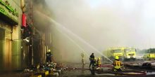 أبوظبي | حريق بمطعم في مركز تجاري