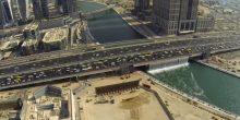 بالفيديو   شاهد تدفق المياه من شلال قناة دبي