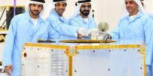 بالفيديو | محمد بن راشد يضع قطعة الأساس في أول قمر صناعي عربي