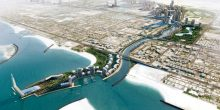 """شاهد أول صورة لـ """"قناة دبي المائية"""" من الفضاء"""