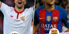اليوم .. مواجهة نارية بين برشلونة وإشبيلية في الدوري الإسباني