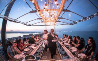 المطاعم المعلقة في دبي سحر آخر لتناول الطعام