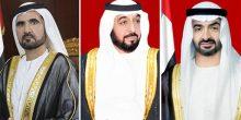 رئيس الدولة ونائبه ومحمد بن زايد يهنئون ملك البحرين بالعيد الوطني