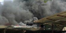 القوز الصناعية | حريق بمستودع أصباغ