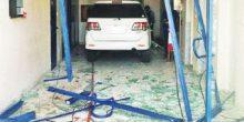وفاة شخص وإصابة آخر إثر اقتحام سائق محل صرافة بسيارته