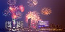 الاحتفال برأس السنة الجديدة يكتسي طابعا خاصا في جزيرة الماريه بأبوظبي
