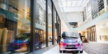 دبي مول يطلق خدمة السيارات الكهربائية الأولى من نوعها في العالم
