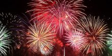 الألعاب الناريّة في اليوم الوطني الـ 45 لدولة الإمارات