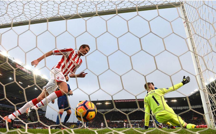 ديفيد دي خيا مانشستر يونايتد وستوك سيتي دوري 22 2017