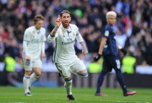 راموس ريال مدريد ومالاجا دوري 19 2017