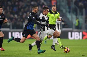 ليوناردو سبينازولا وباولو ديبالا اليوفنتوس وأتلانتا دور 16 كأس إيطاليا 2017