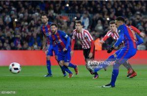 نيمار وميسي برشلونة وأتلتيك بلباو كأس ملك إسبانيا إياب 16 2017