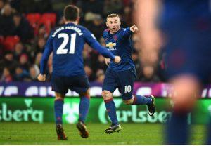 واين روني مانشستر يونايتد وستوك سيتي دوري 22 2017
