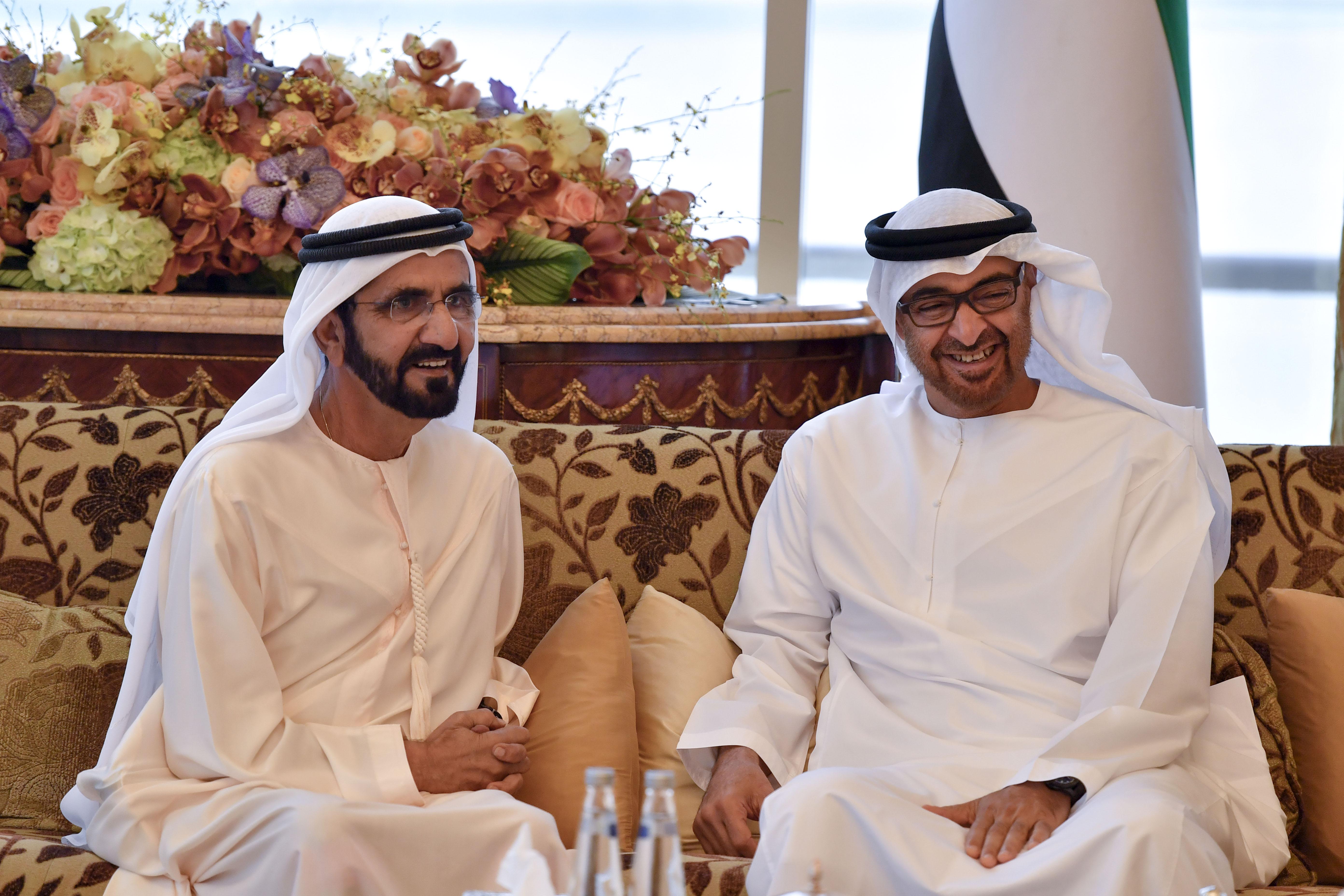 محمد بن راشد ومحمد بن زايد يستعرضان شؤون وقضايا الوطن والمواطنين