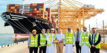 ميناء جبل علي | وصول أكبر سفينة حاويات في العالم