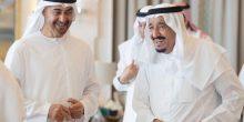 محمد بن زايد يهنئ خادم الحرمين الشريفين