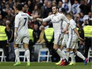 جاريث بيل غاريث بيل وكريستيانو رونالدو ريال مدريد وإسبانيول دوري 23 2017