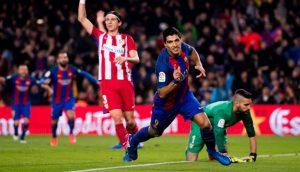 لويس سواريز برشلونة وأتلتيكو مدريد كأس الملك إياب نصف النهائي 2017