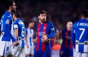ميسي برشلونة وليجانيس دوري 23 2017