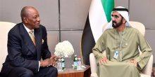 محمد بن راشد يستقبل رئيس غينيا