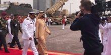 محمد بن راشد يدشن البارجة الإماراتية كورفت الهيلي