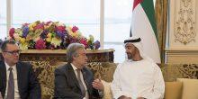 أبوظبي | محمد بن زايد يستقبل الأمين العام للأمم المتحدة