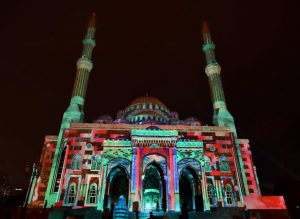 Opening of the 7th consecutive year the Sharjah Light festival on Masjid Al Noor Photo Arshad Ali/Gulf News